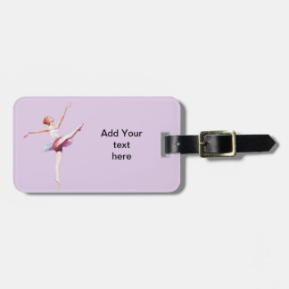 Ballerina in Pink and Lavender Travel Bag Tags