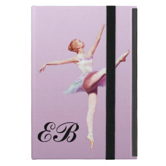 Ballerina in Pink and Lavender, Monogram iPad Mini Case