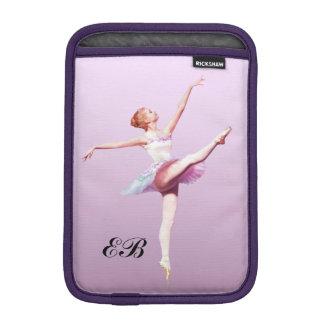 Ballerina in Pink and Lavender, Monogram iPad Mini Sleeve