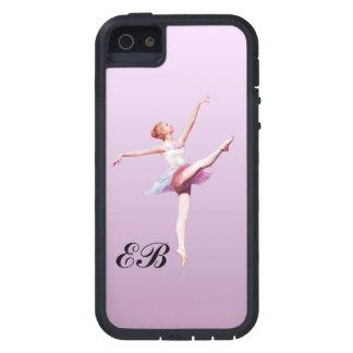 Ballerina in Pink and Lavender, Monogram iPhone SE/5/5s Case