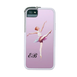 Ballerina in Pink and Lavender, Monogram iPhone SE/5/5s Cover