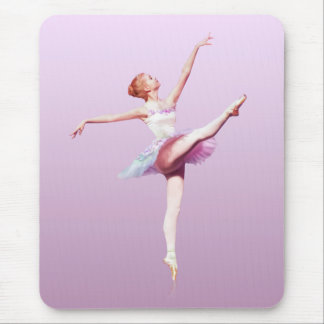 Ballerina in Pink and Lavender, Monogram Mouse Pad