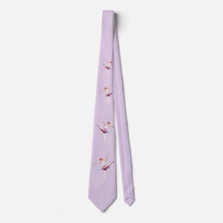 Ballerina in Pink and Lavender Neck Tie