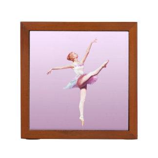 Ballerina in Pink and Lavender Pencil/Pen Holder