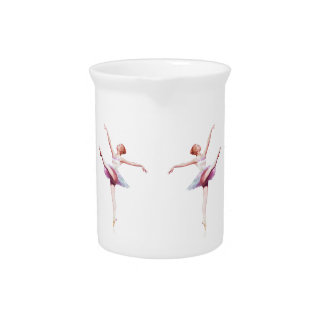 Ballerina in Pink and Lavender Pitcher
