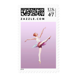 Ballerina in Pink and Lavender Postage