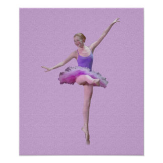 Ballerina in Pink and Purple Poster