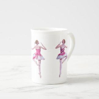 Ballerina in Pink and White Bone China Mug