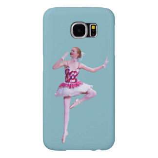 Ballerina in Pink and White Customizable Samsung Galaxy S6 Case