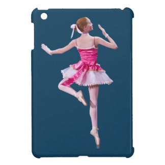 Ballerina in Pink and White iPad Mini Cases