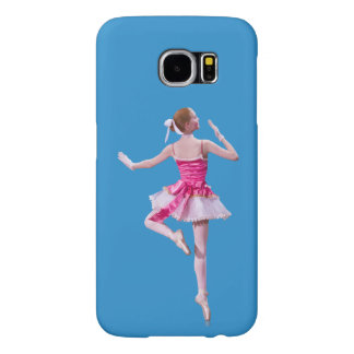 Ballerina in Pink and White Samsung Galaxy S6 Case