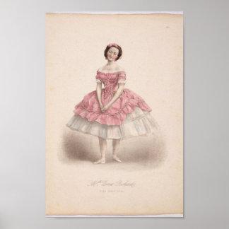 Ballerina in Pink Print