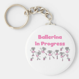 Ballerina in Progress T-shirts and Gifts Keychain