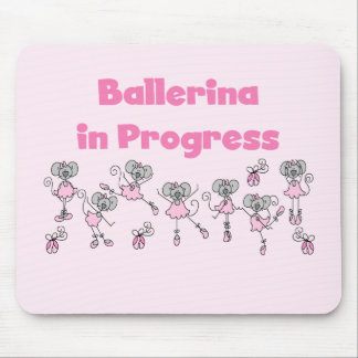 Ballerina in Progress T-shirts and Gifts Mouse Pad