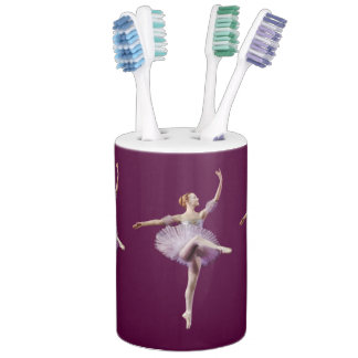 Ballerina in Purple and White Bathroom Set