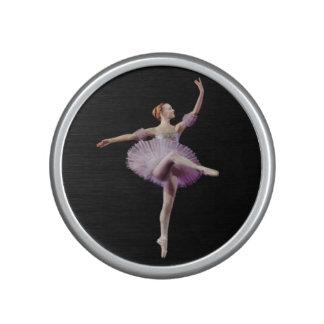Ballerina in Purple and White Bluetooth Speaker