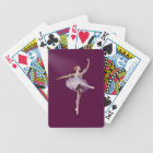 Ballerina in Purple and White Customizable Bicycle Playing Cards