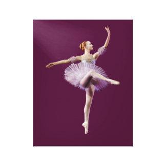 Ballerina in Purple and White Customizable Canvas Print