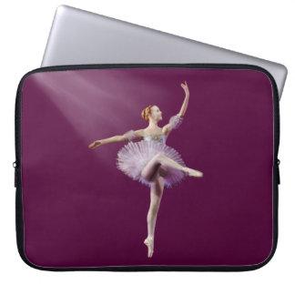 Ballerina in Purple and White Customizable Computer Sleeve