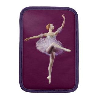 Ballerina in Purple and White Customizable iPad Mini Sleeve