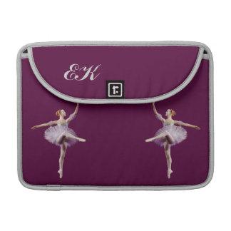 Ballerina in Purple and White Customizable MacBook Pro Sleeves