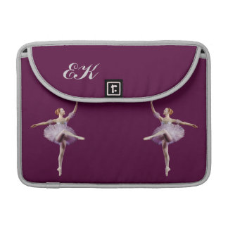 Ballerina in Purple and White Customizable Sleeve For MacBook Pro