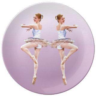 Ballerina in Purple and White Dinner Plate
