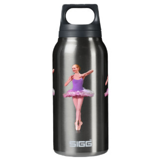 Ballerina in Purple and White Insulated Water Bottle