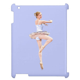 Ballerina in Purple and White iPad Covers