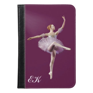 Ballerina in Purple and White, Monogram iPad Mini Case