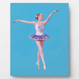 Ballerina in Purple and White\ Plaque