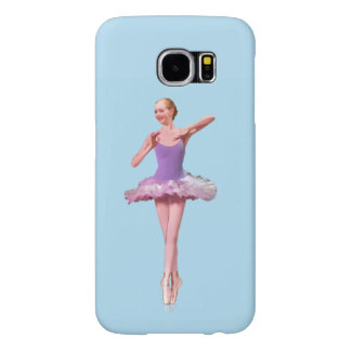 Ballerina in Purple and White Samsung Galaxy S6 Case