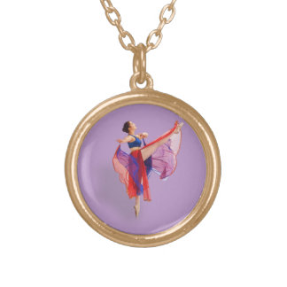 Ballerina in Red, Blue, and Lavender Jewelry