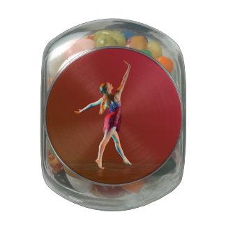 Ballerina in Red Glass Jars