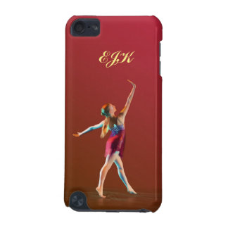 Ballerina in Red, Monogram iPod Touch 5G Cover