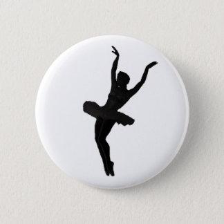 Ballerina in Silhouette Pinback Button