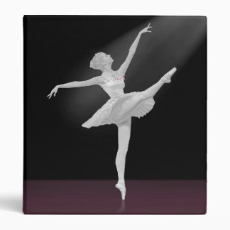 Ballerina in Silver and Black Binder