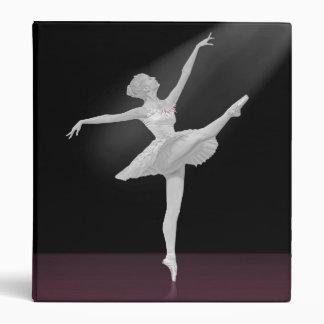 Ballerina in Silver and Black Binder