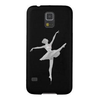 Ballerina in Silver and Black Customizable Galaxy S5 Case