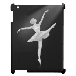 Ballerina in Silver and Black Customizable iPad Cases