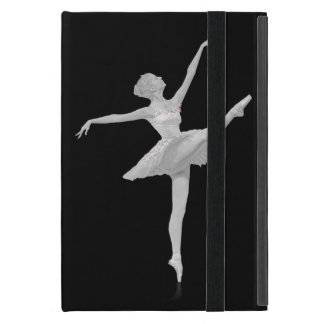 Ballerina in Silver and Black Customizable iPad Mini Case