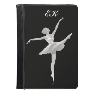 Ballerina in Silver and Black, Monogram iPad Air Case