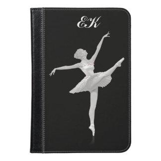 Ballerina in Silver and Black, Monogram iPad Mini Case