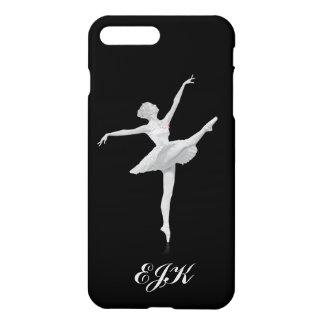 Ballerina in Silver and Black, Monogram iPhone 7 Plus Case