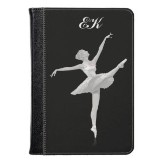 Ballerina in Silver and Black, Monogram Kindle Case