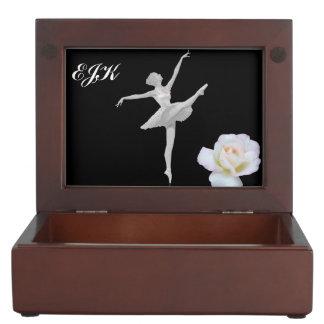 Ballerina in Silver and Black, Monogram Memory Box