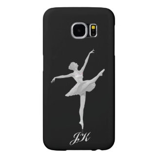 Ballerina in Silver and Black, Monogram Samsung Galaxy S6 Case