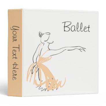 Professional Business Ballerina in Soft Peach 3 Ring Binder