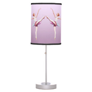Ballerina in White and Pink Table Lamp
