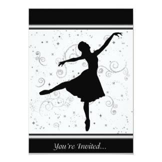 """Ballerina Invitation 5"""" X 7"""" Invitation Card"""